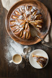 Apple pie on wooden table. Stock Photography