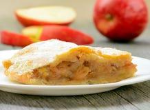 Apple pie on wooden table Stock Photo