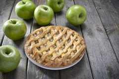 Apple Pieefterrätt Royaltyfria Bilder