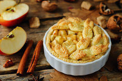 Apple pies with different design stock image
