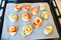 Apple pies in form of roses Royalty Free Stock Photo