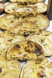 Apple pies in a market Royalty Free Stock Photos