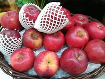 Apple-Pile Of Apple. Stack Of Apple at the market.Group of red apples. Apple background. Red apple. Closeup shot of fresh red apples. apple on the basket stock images