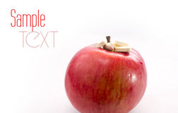 Apple with pills Royalty Free Stock Photography