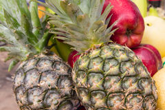 Apple, pineapple, mixed fruit Royalty Free Stock Photos