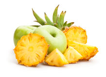 Apple and pineapple Stock Images