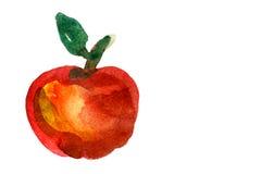 Apple pintou a aquarela fotografia de stock royalty free