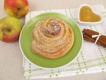 Apple pinwheel with icing sugar Royalty Free Stock Photography