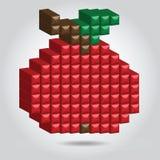 Apple in pixel disegna Immagine Stock Libera da Diritti