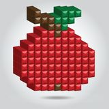 Apple in Pixel Style Royalty Free Stock Image