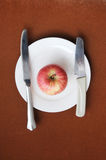 The apple in plate Royalty Free Stock Image