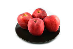 Apple in plate Stock Photo