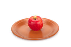 Apple on a plate Stock Photo