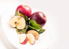 Apple platea, fresco Fotografía de archivo libre de regalías