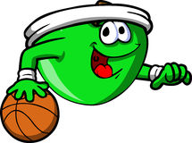 Apple playing basketball Royalty Free Stock Photography