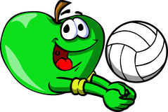 Apple playing volleyball Stock Photography