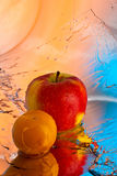 Apple and plum Royalty Free Stock Photography