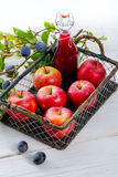 Apple plums juice Stock Photography