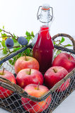 Apple plums juice Royalty Free Stock Image