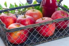 Apple plums juice Royalty Free Stock Photography