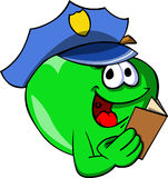 Apple policeman checking papers Royalty Free Stock Photo