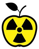 Apple polluted by radiation Royalty Free Stock Photography