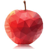 Apple of polygons on a white background royalty free illustration