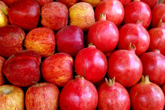 Apple and pomegranate. Fruit shop apple and pomegranate mixed Royalty Free Stock Images