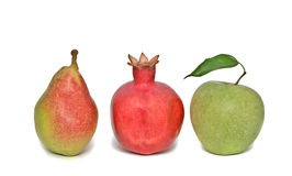 Apple, pomegranate, and pear Royalty Free Stock Photography