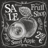 Apple, pomegranate vector logo design template Stock Image