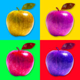 Apple pop art style Stock Photos