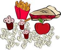 Apple and popcorn Stock Image