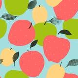 Apple porte des fruits modèle sans couture Pommes rouges, vertes et d'or Image libre de droits