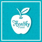 Apple portent des fruits affiche avec le modèle sain de nourriture Photo stock