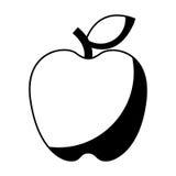 Apple portent des fruits icône d'isolement fraîche Images stock