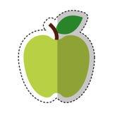Apple portent des fruits icône d'isolement fraîche Photo stock