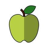 Apple portent des fruits icône d'isolement fraîche Photo libre de droits