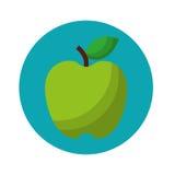 Apple portent des fruits icône d'isolement fraîche Images libres de droits