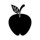 Apple portent des fruits pictogramme de régime de nutrition Photo stock
