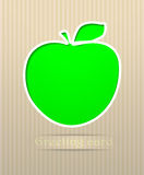Apple postcard Royalty Free Stock Photography