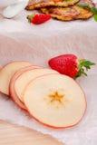 Apple and potato pancakes Royalty Free Stock Photo