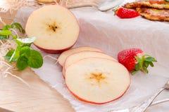 Apple and potato pancakes Royalty Free Stock Photos