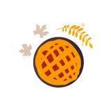 Apple, potiron, tarte de fruit et chute, feuilles d'automne Image libre de droits