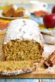 Apple pound cake. Stock Photo