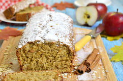 Apple pound cake. Royalty Free Stock Image