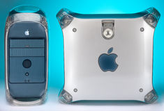 Apple Power Mac G4 Computer (1999-2004). The Apple Power Mac G4 was launched on 31st August 1999 and was on the market through several upgrades until early June royalty free stock photos
