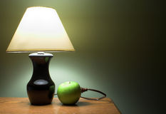 Apple Powered Lamp Stock Photo