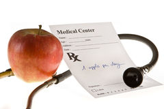 Apple prescription Royalty Free Stock Photos