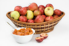 Apple and preserves Stock Photography