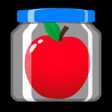 Apple in preserving jar Royalty Free Stock Photos